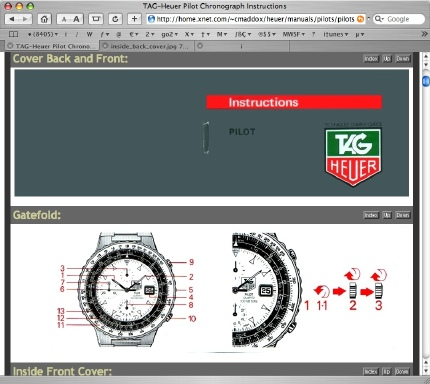 tag heuer formula 1 chronograph instructions