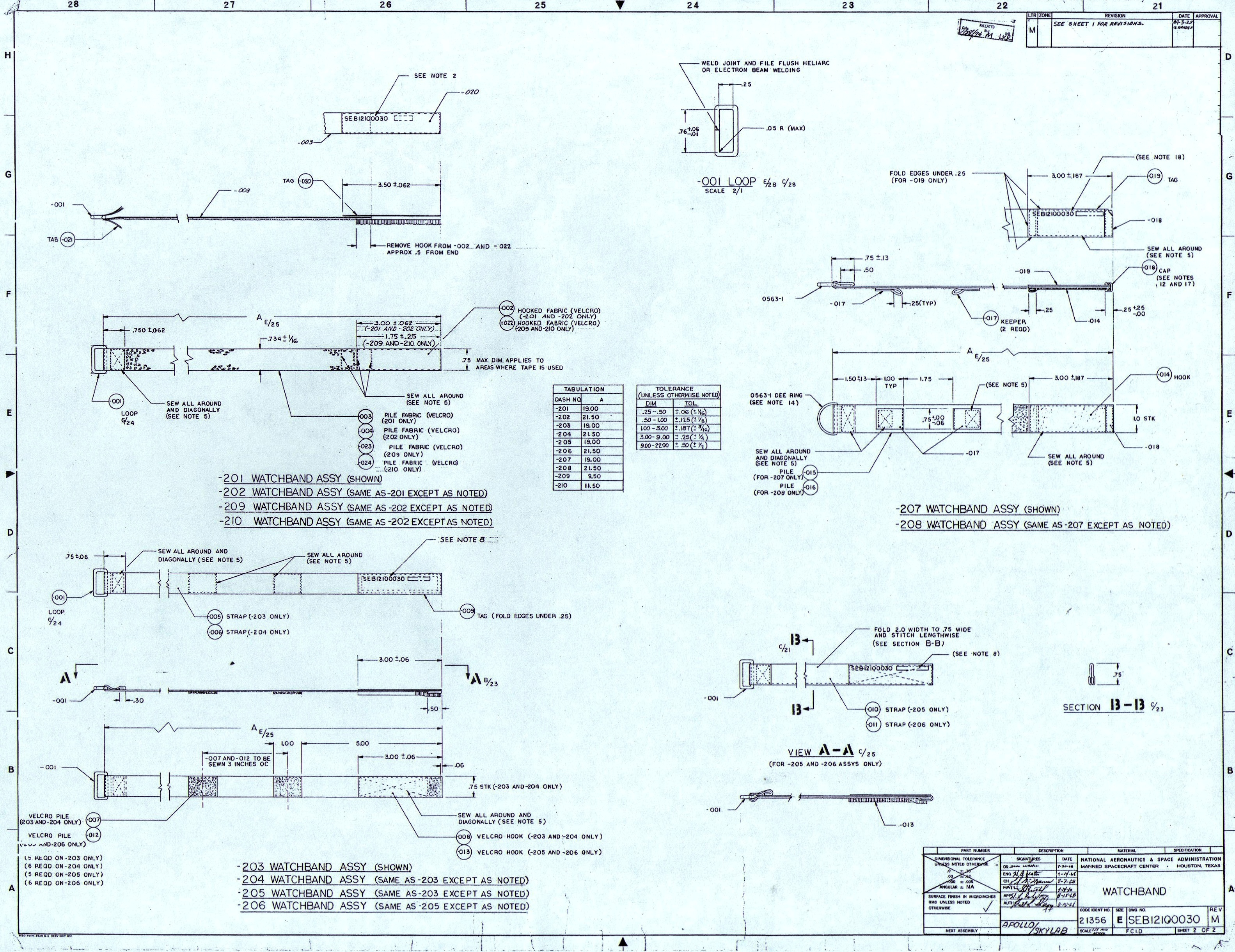 Chuck maddoxs watch blog from nasa velcro strap blueprints click on the images above to pull up the full resolution 25m scans malvernweather Gallery